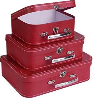 Super Amazon.com: cargo Vintage Travelers Mini Suitcases, Set of 3,Red  WP14