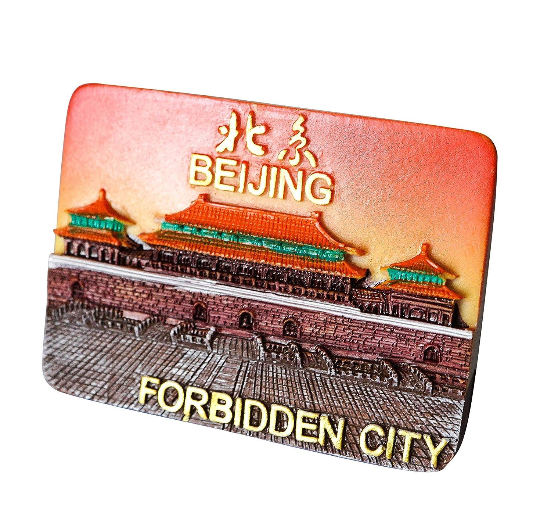 zamonji 3D R/ésine R/éfrig/érateur Aimants De Cuisine Home Decor Tourist Souvenir de Voyage Forbidden City Chine Beijing