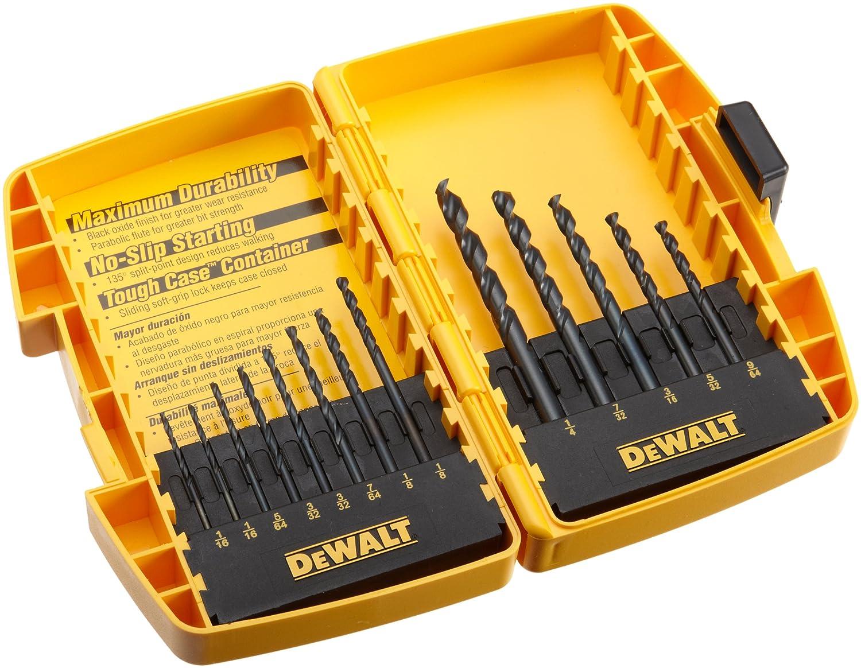 DEWALT Black Oxide Drill Bit Set with Pilot Point, 13-Piece (DW1163)