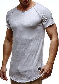 LEIF NELSON Herren Oversize T-Shirt Sweatshirt Hoodie Hoody LN6339 b35d2e3c39