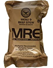 MRE (Meals Ready-to-Eat) Genuine US Military Surplus with Menu Selections, 09 Beef Stew by Western Frontier