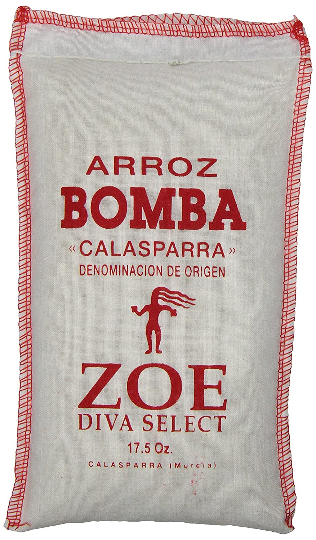 amazon com zoe diva select bomba rice 17 5 oz bag grocery