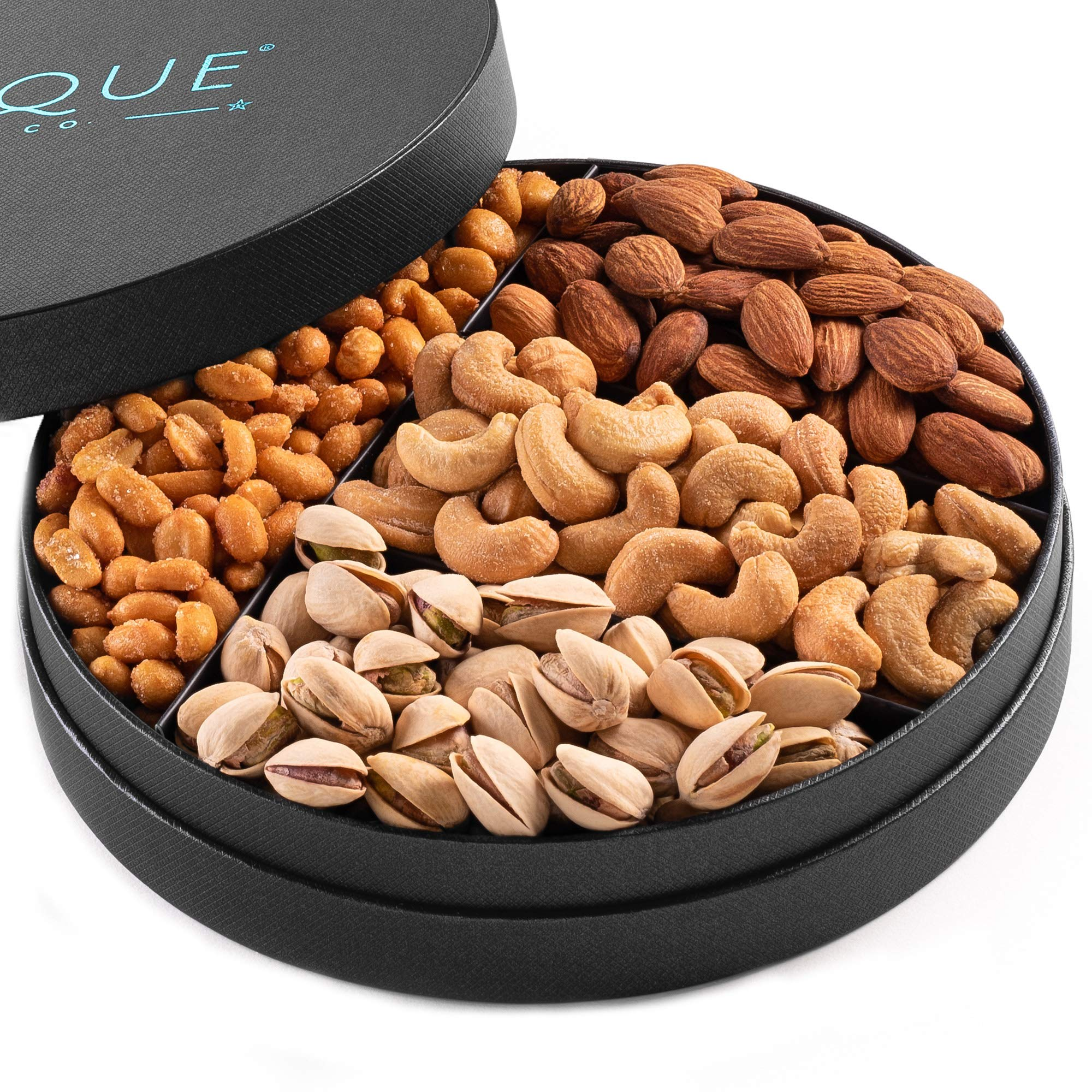 Gourmet Nut Gift Tray - 8'', Freshly Roasted Assorted Nuts for Mothers Day, Fathers Day,Holiday and Corporate Gifting
