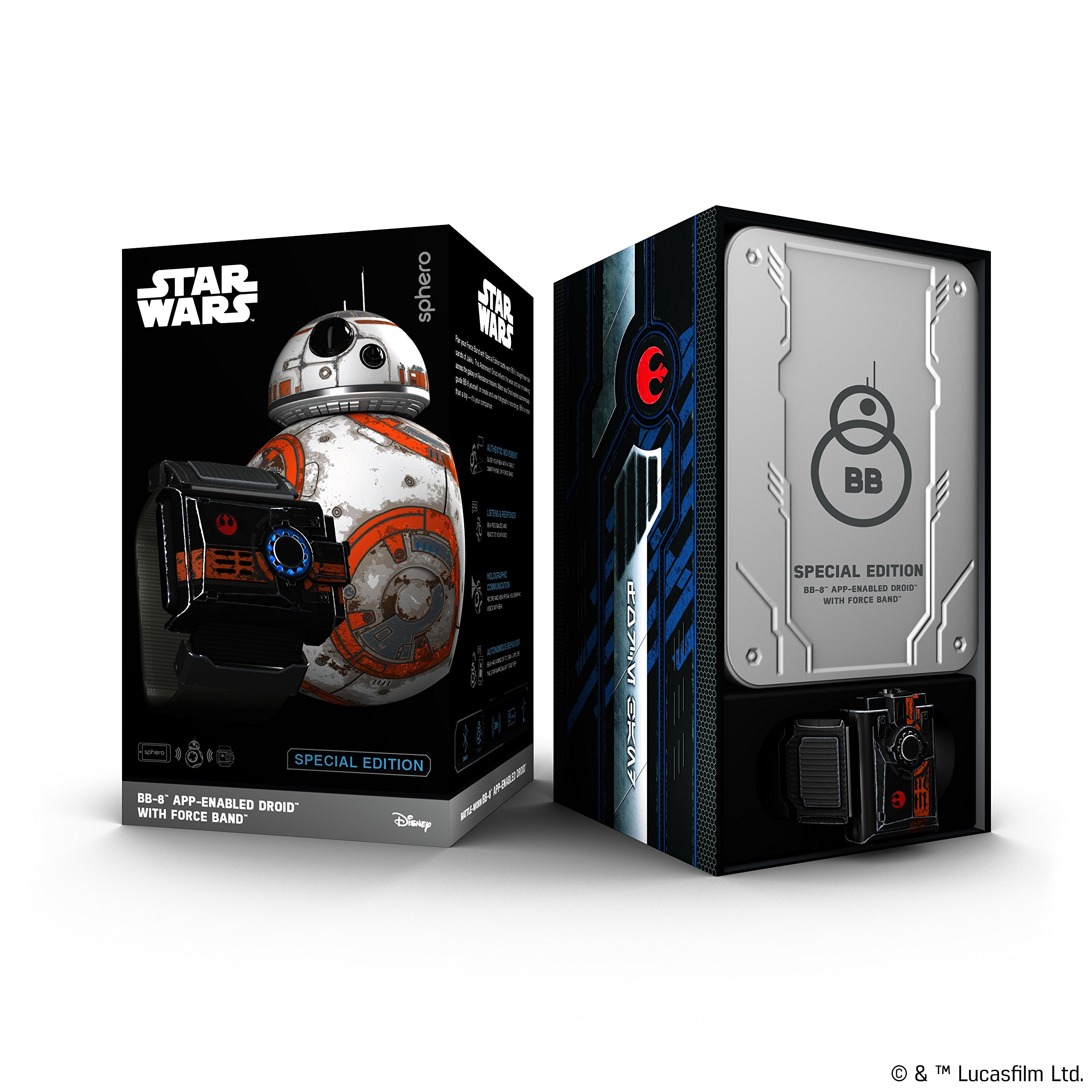 Wig Special Edition Battle-Worn BB-8 App-Enabled Droid with Force Band by Wig (Image #8)