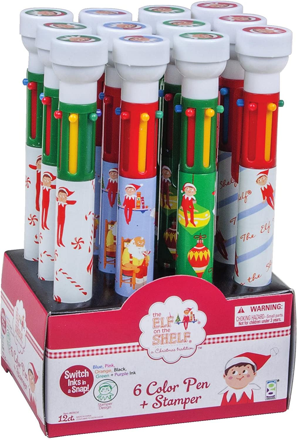 - Amazon.com: Raymond Geddes The Elf On The Shelf Pens With Stampers