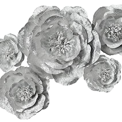 Amazon Com Paper Flower Decoration Handcrafted Flowers Crepe