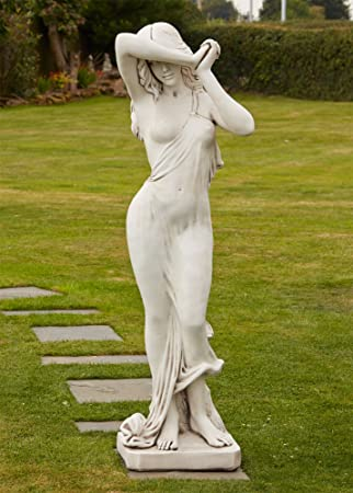 Charming Large Garden Statues   Naked Woman Figurine Stone Sculpture