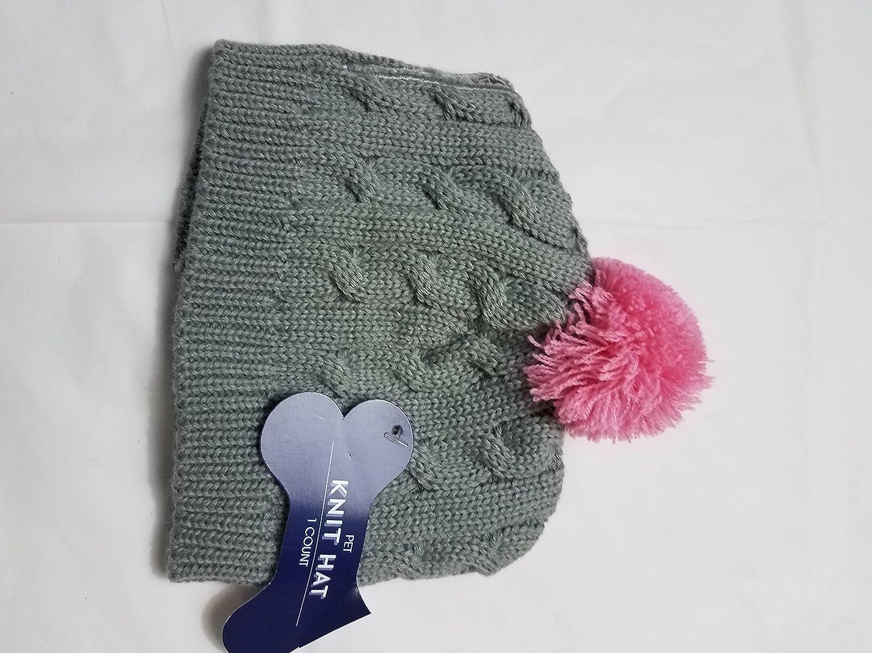 Grey Pink Knit Pet Hat (Grey Pink)