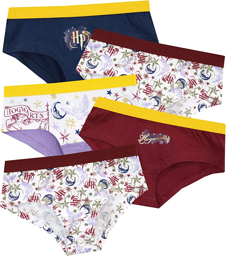 Harry Potter Bragas Paquete de 5 Hogwarts Multicolor 5-6 Años: Amazon.es: Ropa y accesorios