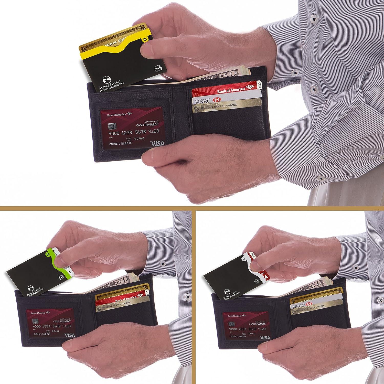 18 couvertures de blocage RFID La conception intelligente tient dans le sac /à main // porte-monnaie 14 cartes de cr/édit 4 passeports Ultimate Identity Vol Protection Set pour les hommes // femmes