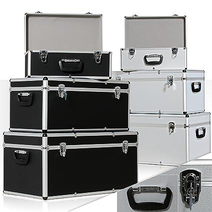 Masko - Juego de 3 cajas de transporte y almacenamiento de aluminio