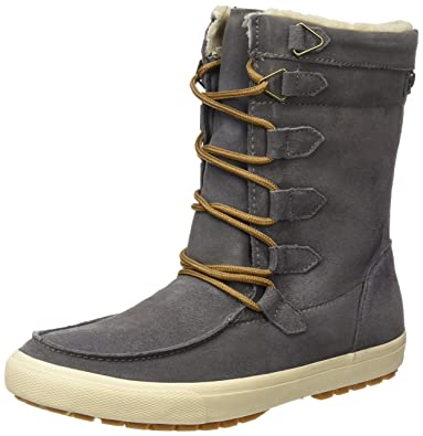 Stiefel Schuhe NEU Damen Warm Gefütterte Boots 0603 Grau 38