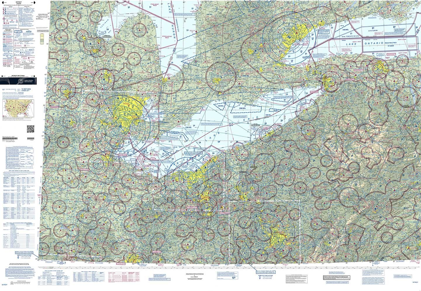 Sectional Air Map Amazon.com: FAA Chart: VFR Sectional DETROIT SDET (Current Edition