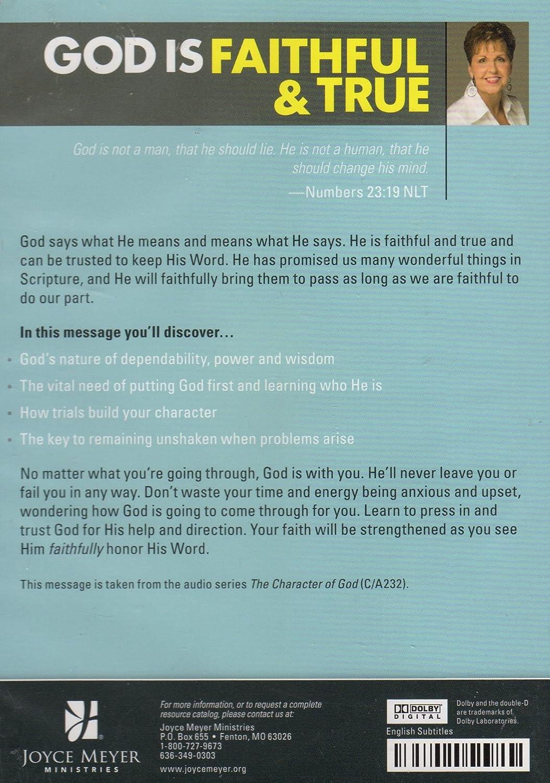 Amazon com: Joyce Meyer: God is Faithful & True: Joyce Meyer