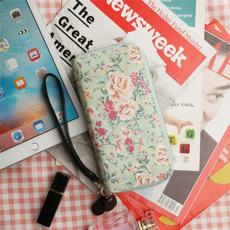 Women Wristlets Canvas Owl Wallet Zipper Purse Clutch Phone Card Holder Handbag QB-1604@#MUS-20