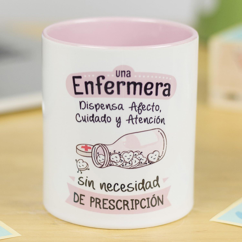 La Mente es Maravillosa - Taza frase y dibujo divertido (Una enfermera dispensa afecto y atención sin necesidad de prescripción) Regalo ENFERMERA