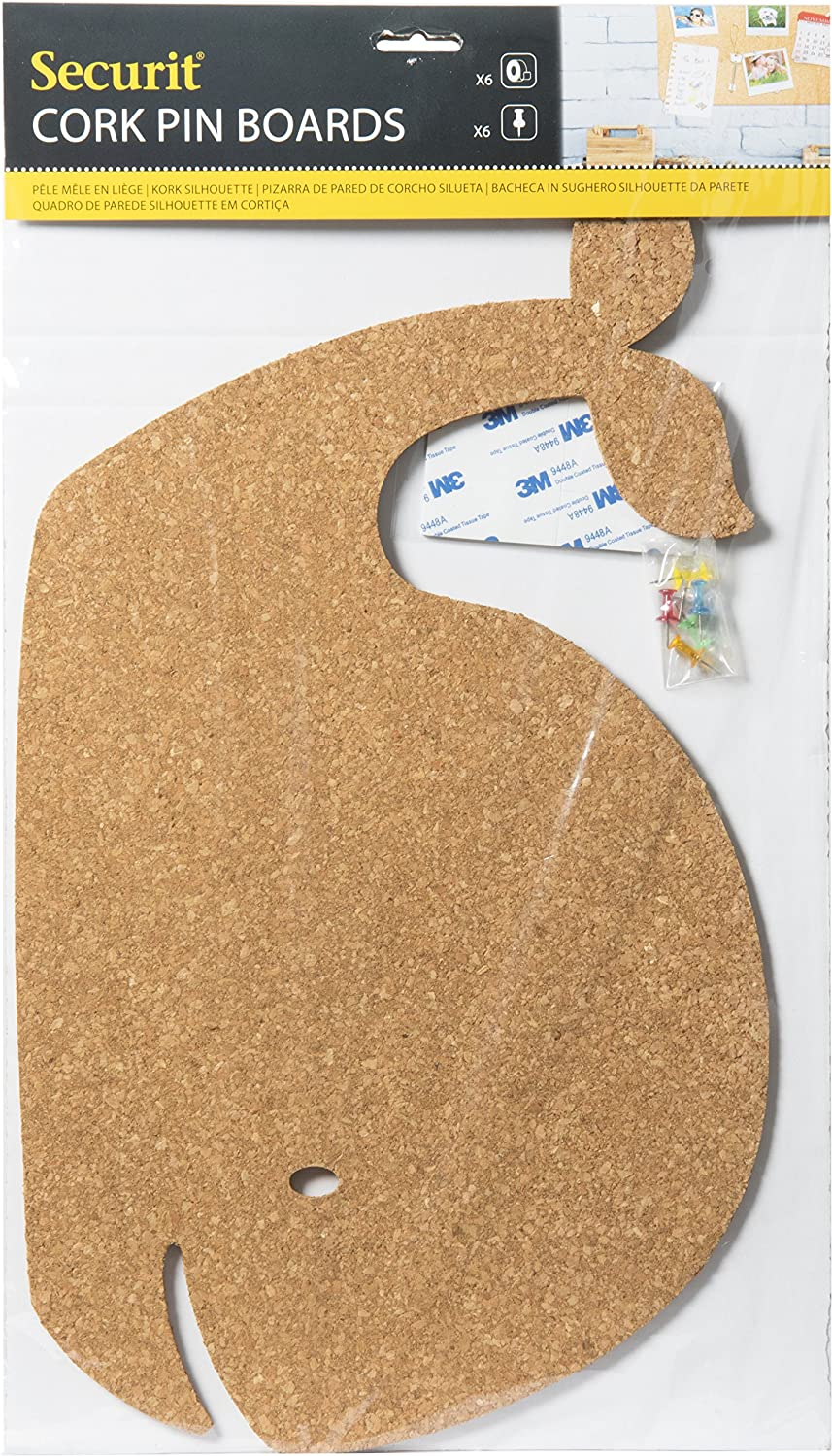 Amazon.com: Securit Wall Corkboard Whale & Pins: Toys & Games