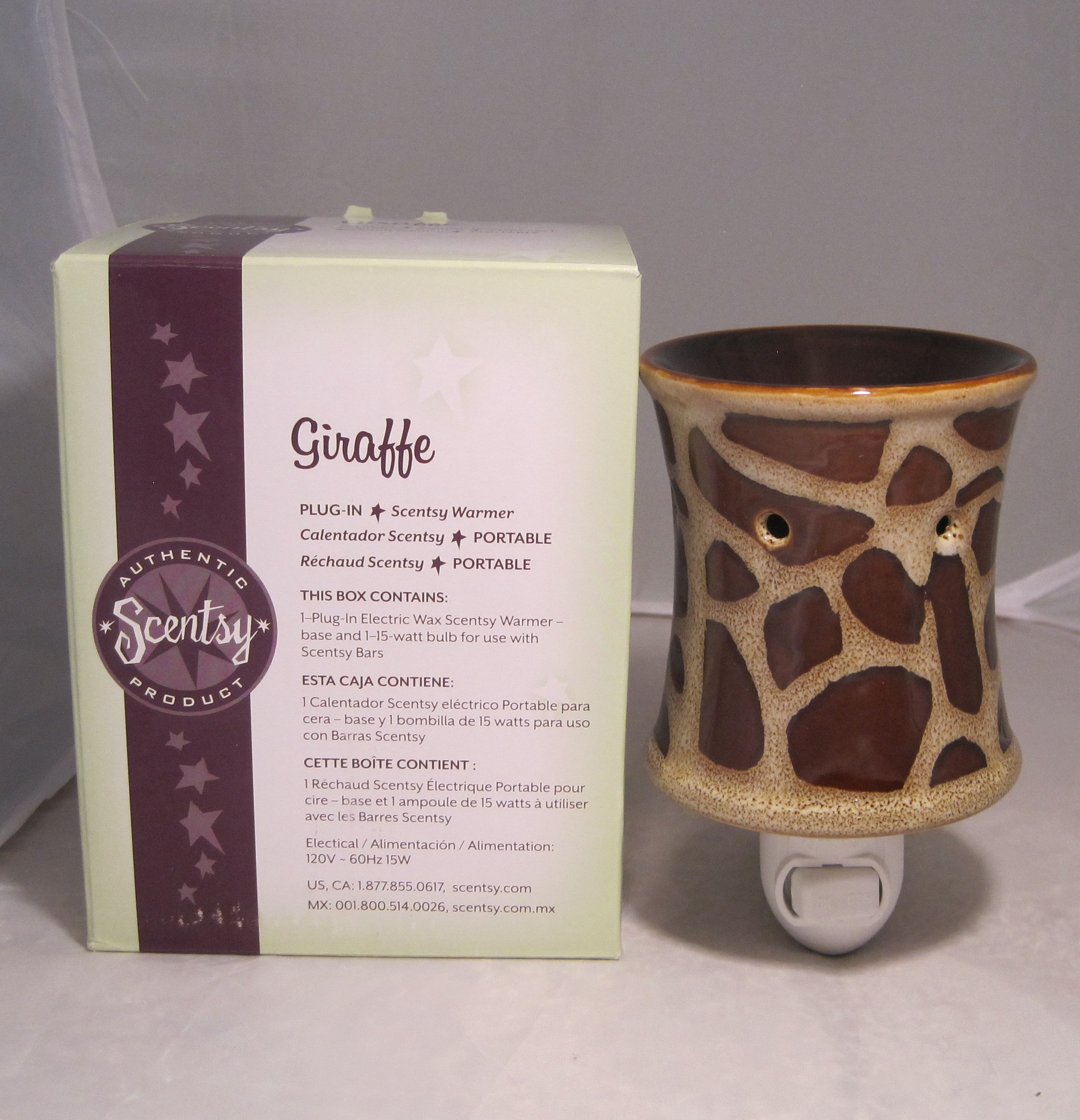 Scentsy Nightlight Warmer, ''Giraffe'', Animal Print Nightlight Plug-in Warmer Burner