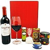 Geschenkset Spanien | Spanischer Geschenkkorb gefüllt mit Wein aus Rioja und Delikatessen | Präsentkorb mit spanischen Spezialitäten und Feinkost