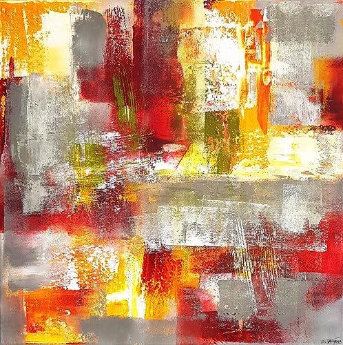 50x50cm Malerei Acryl auf Leinwand moderne abstrakte Kunst modernes ...