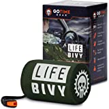 Go Time Gear Life Bivy Emergency Sleeping Bag Thermal Bivvy - Use as Emergency Bivy Sack, Survival Sleeping Bag, Mylar…