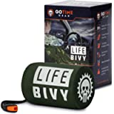 Go Time Gear Life Bivy Emergency Sleeping Bag Thermal Bivvy - Use as Emergency Bivy Sack, Survival Sleeping Bag, Mylar…