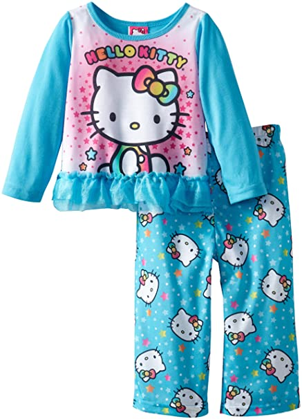 c726de9a3 Amazon.com  Hello Kitty Little Girls  2 Piece Sleep Set