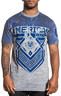71368aba Amazon.com: American Fighter Men's Faribanks Tee Shirt Black/Olive ...