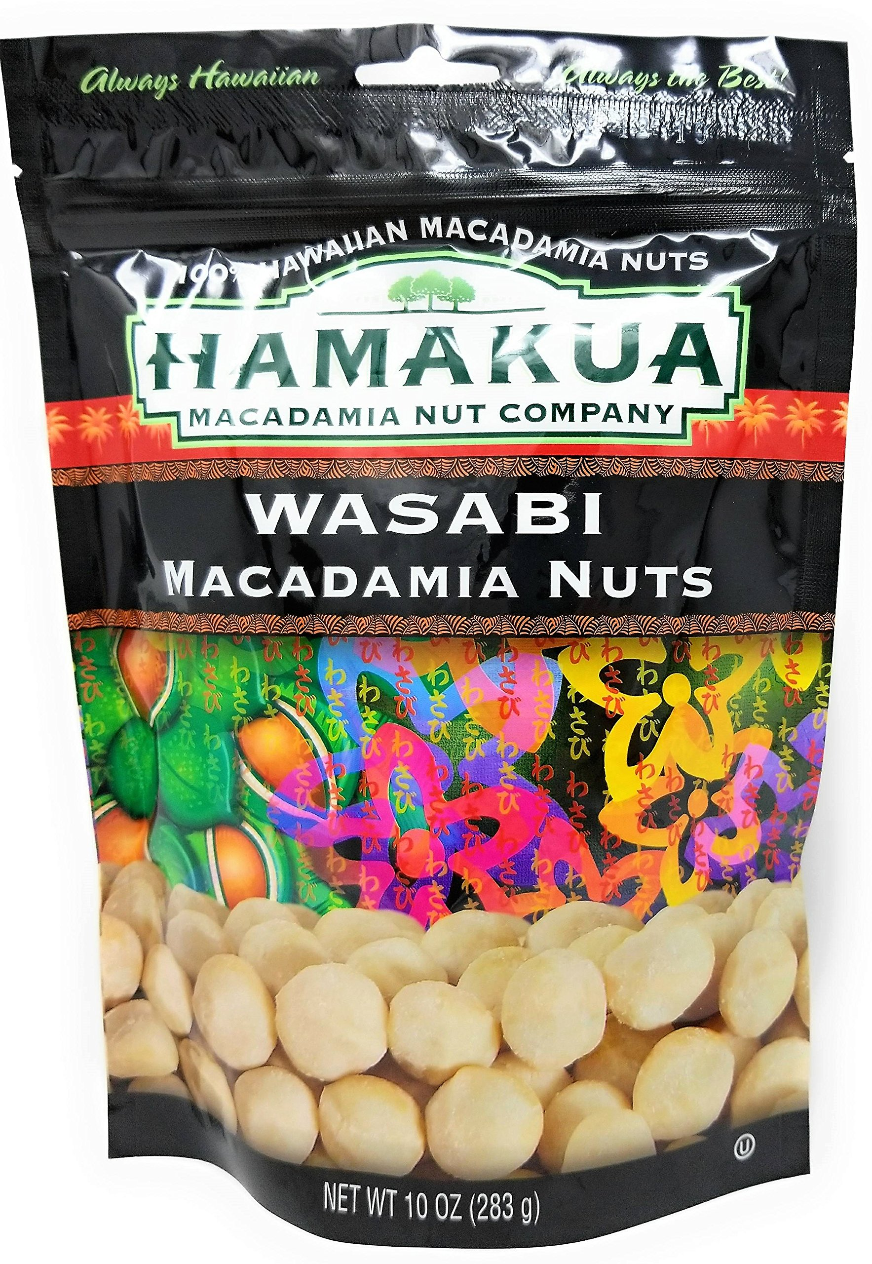 Hawaii Hamakua Plantations Macadamia Nuts Wasabi 10 oz. Bag