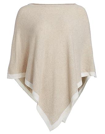 94c0a3dd92b746 Cashmere Dreams Poncho-Schal mit Kaschmir - Hochwertiges Cape für Damen -  XXL Umhängetuch und