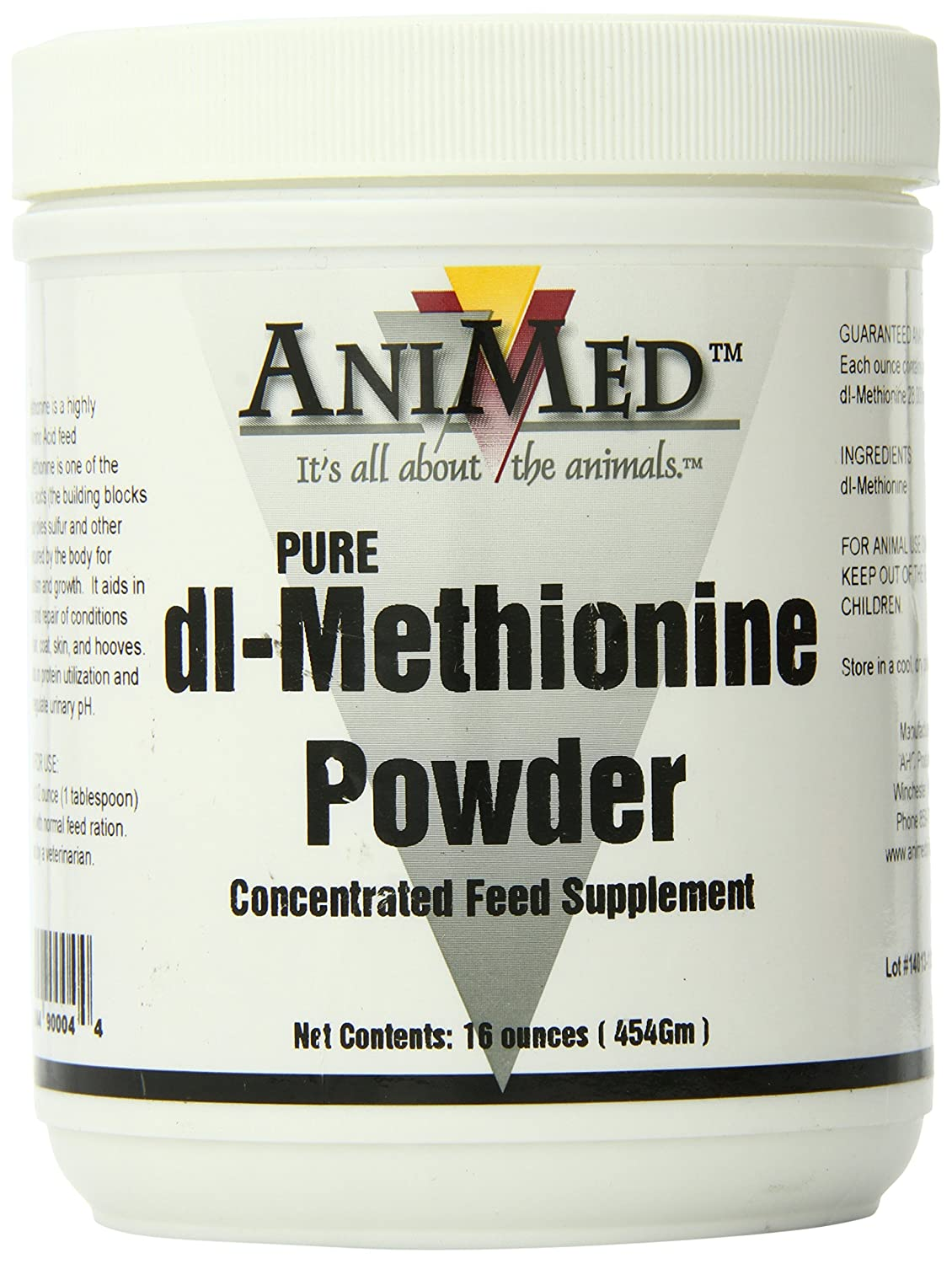 AniMed Dl-Methionine Pure for Horses, 16Oz 053-90004