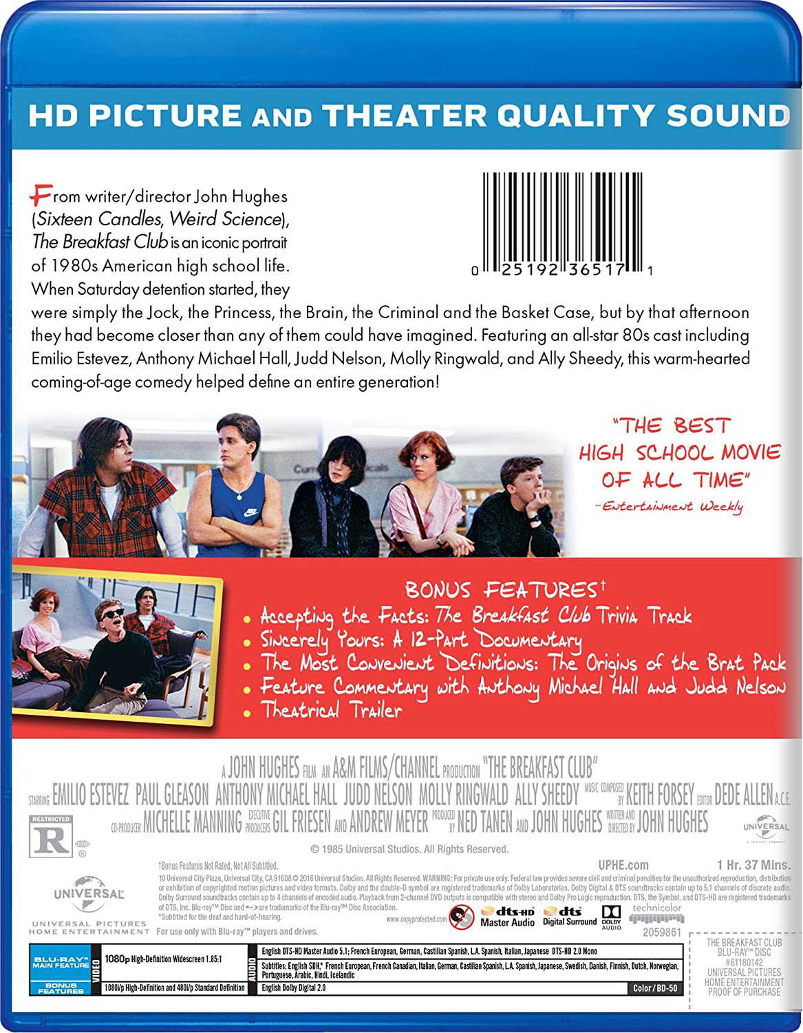 com the breakfast club pop art blu ray molly ringwald  com the breakfast club pop art blu ray molly ringwald emilio estevez anthony michael hall judd nelson ally sheedy john kapelos