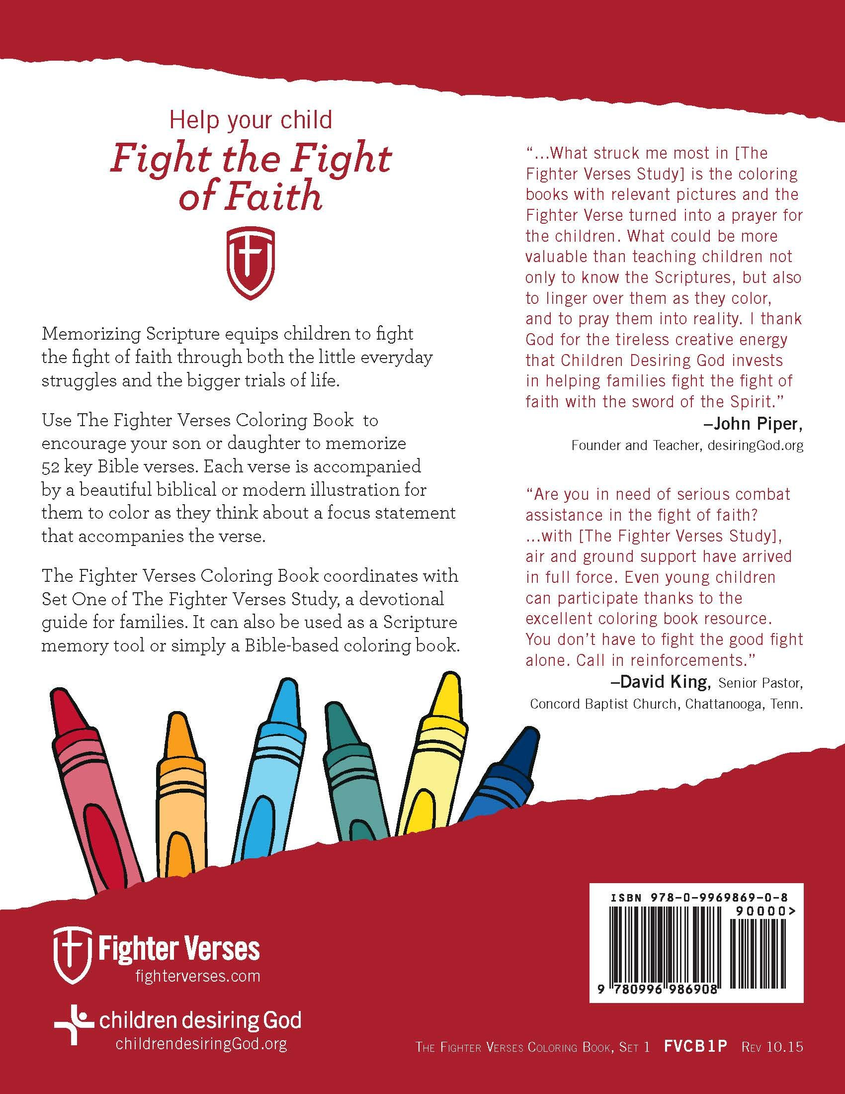 The Fighter Verses Coloring Book, Set One: Sally Michael, Linda ...