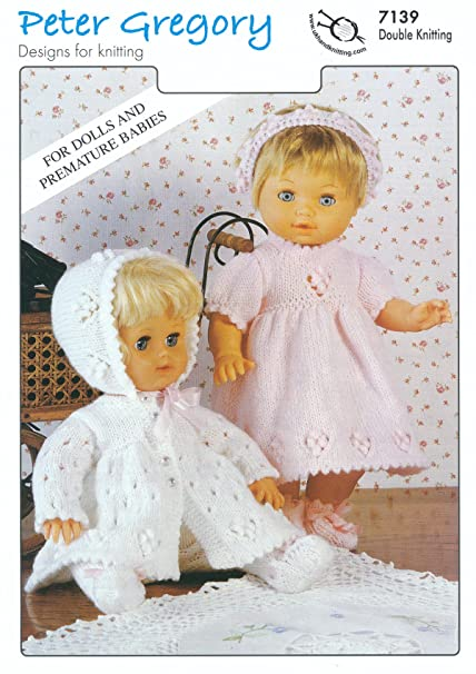 efa82f2a1 Baby DK Double Knitting Pattern for Premature Babies   Doll s ...