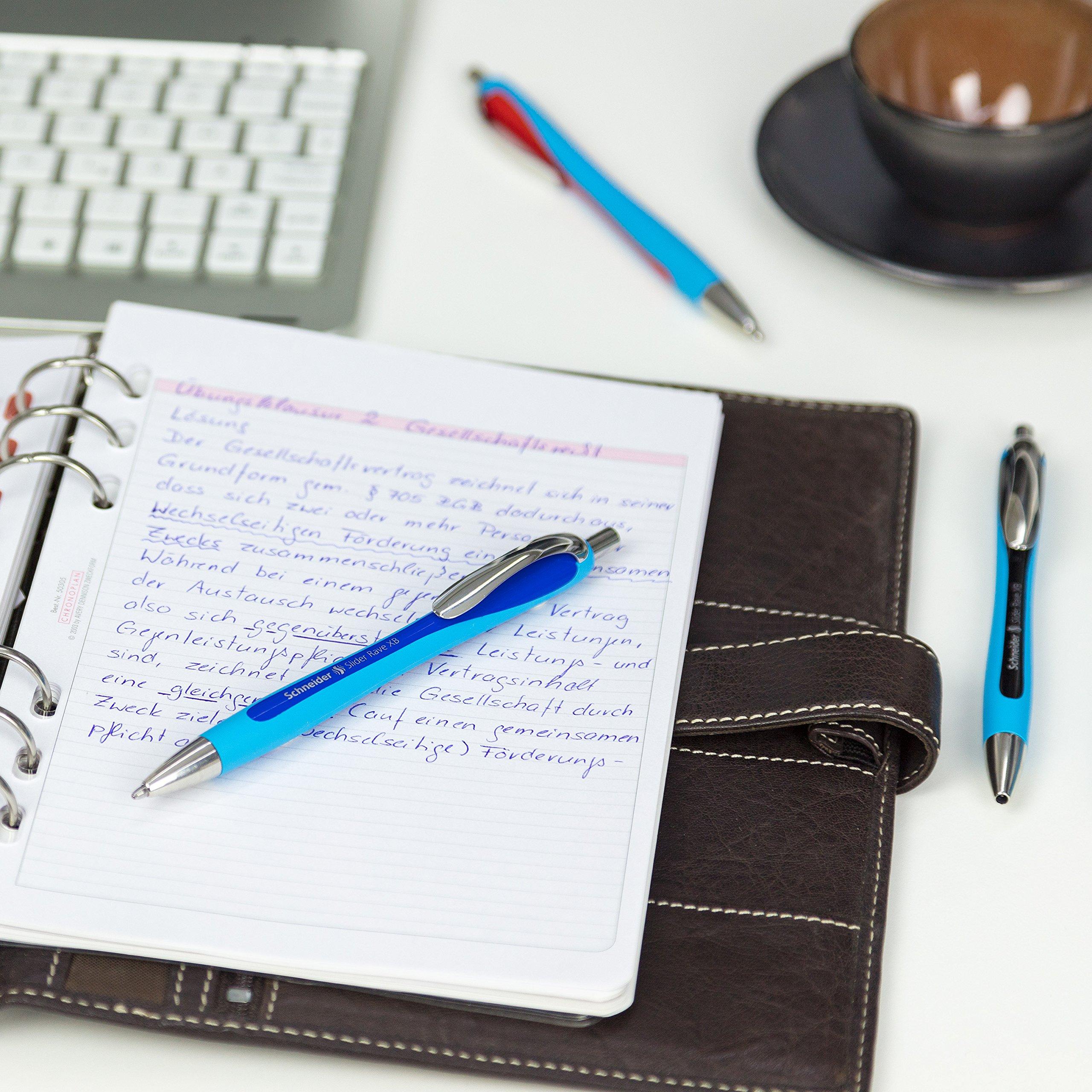 Schneider Slider Rave XB Ballpoint Pen, Box of 5, Blue (132503) by Schneider (Image #6)