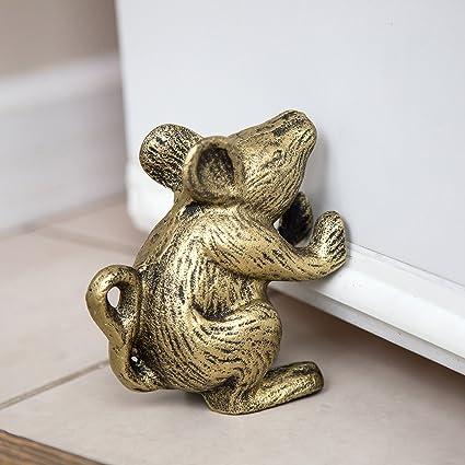 Cast Iron Mouse Door Stop - Decorative Rustic Door Stop - Stop your bedroom bath & Amazon.com : Cast Iron Mouse Door Stop - Decorative Rustic Door Stop ...