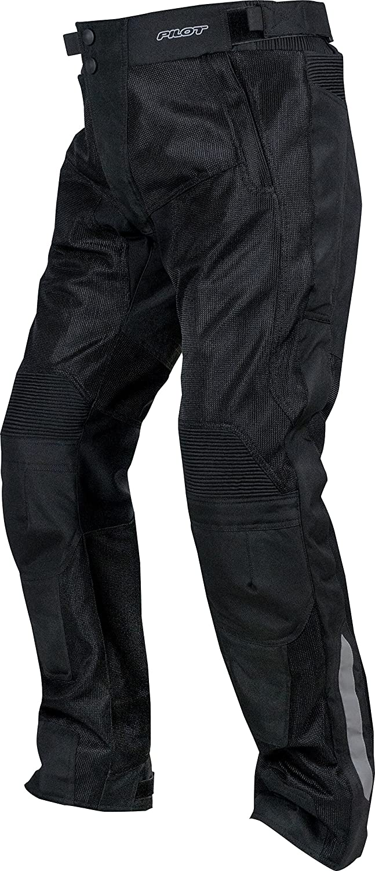 Black, Medium 32-34, V2 Pilot Motosport Mens Omni Air Mesh Motorcycle Over Pants