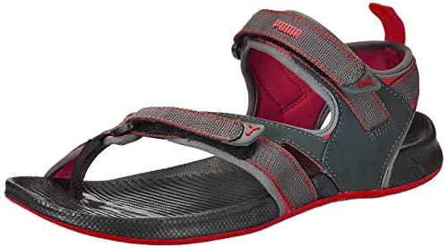 f651852cb28a Puma Men s Walker DP Black and High Risk Red Athletic and Outdoor Sandals -  10 UK