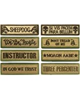 WZT Bundle 8 pcs Tactical Military Morale Patch Set