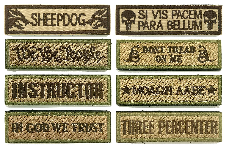 WZT Bundle 8 pcs Tactical Military Morale Patch Set 4337017960