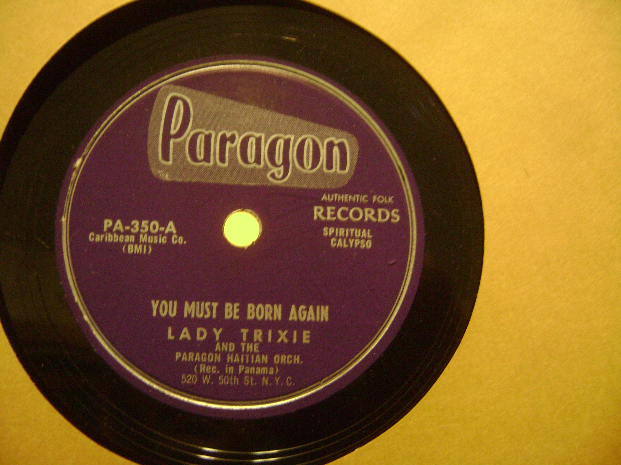Turn Your Banner Roll Jeremiah. 78 RPM Haitian Orchestra Recorded In Panama. by Paragon