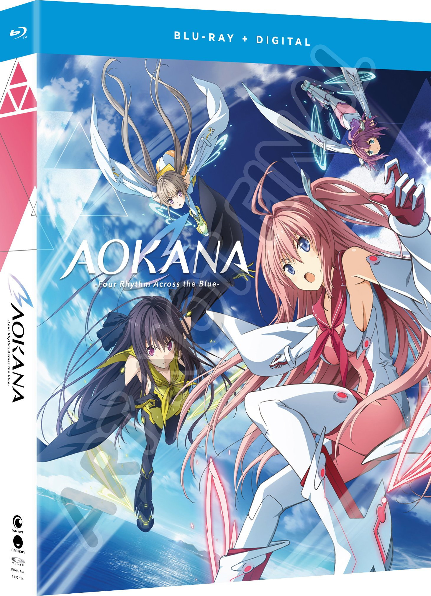 Blu-ray : Aokana: Four Rhythm Across The Blue - The Complete Series (Boxed Set, Subtitled, Snap Case, Slipsleeve Packaging, Digital Copy)