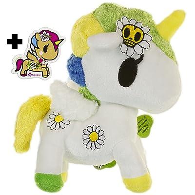 """tokidoki Margherita Unicorno ~8"""" Plush Plush Series + 1 Free Unicorno Mini-Sticker Bundle: Toys & Games"""