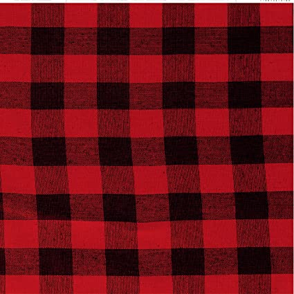 6x6 Paper Pack Red /& Black Buffalo Check