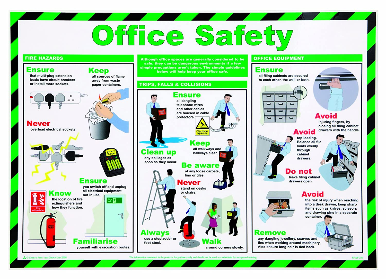 St John Ambulance A2 Poster Office Safety: Amazon.co.uk: Business ...