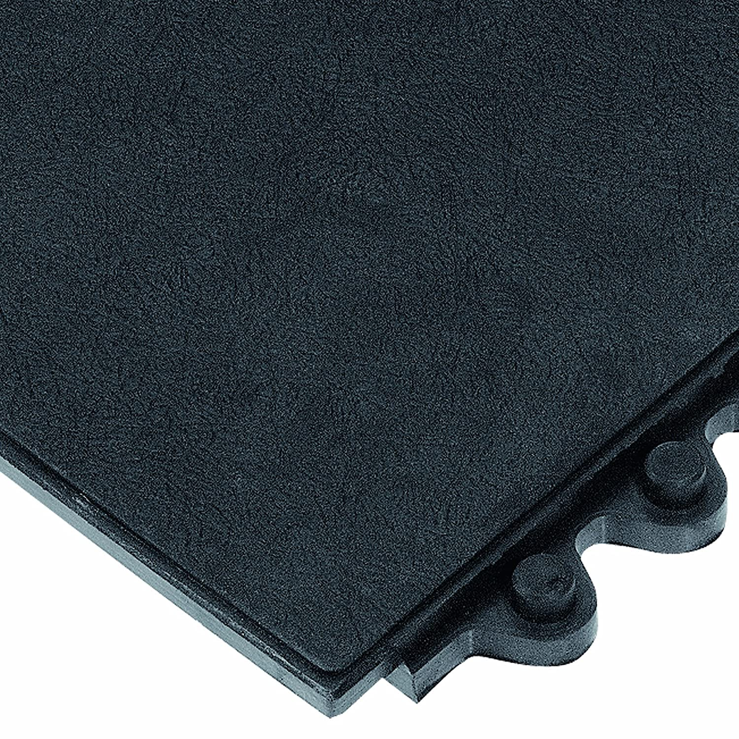 Wearwell Rubber 570 24/Seven Cutting Fluid Resistant Heavy Duty Anti-Fatigue Mat, for Wet Areas, 3' Width x 3' Length x 5/8 Thickness, Black by Wearwell Industrial B004E10SDA