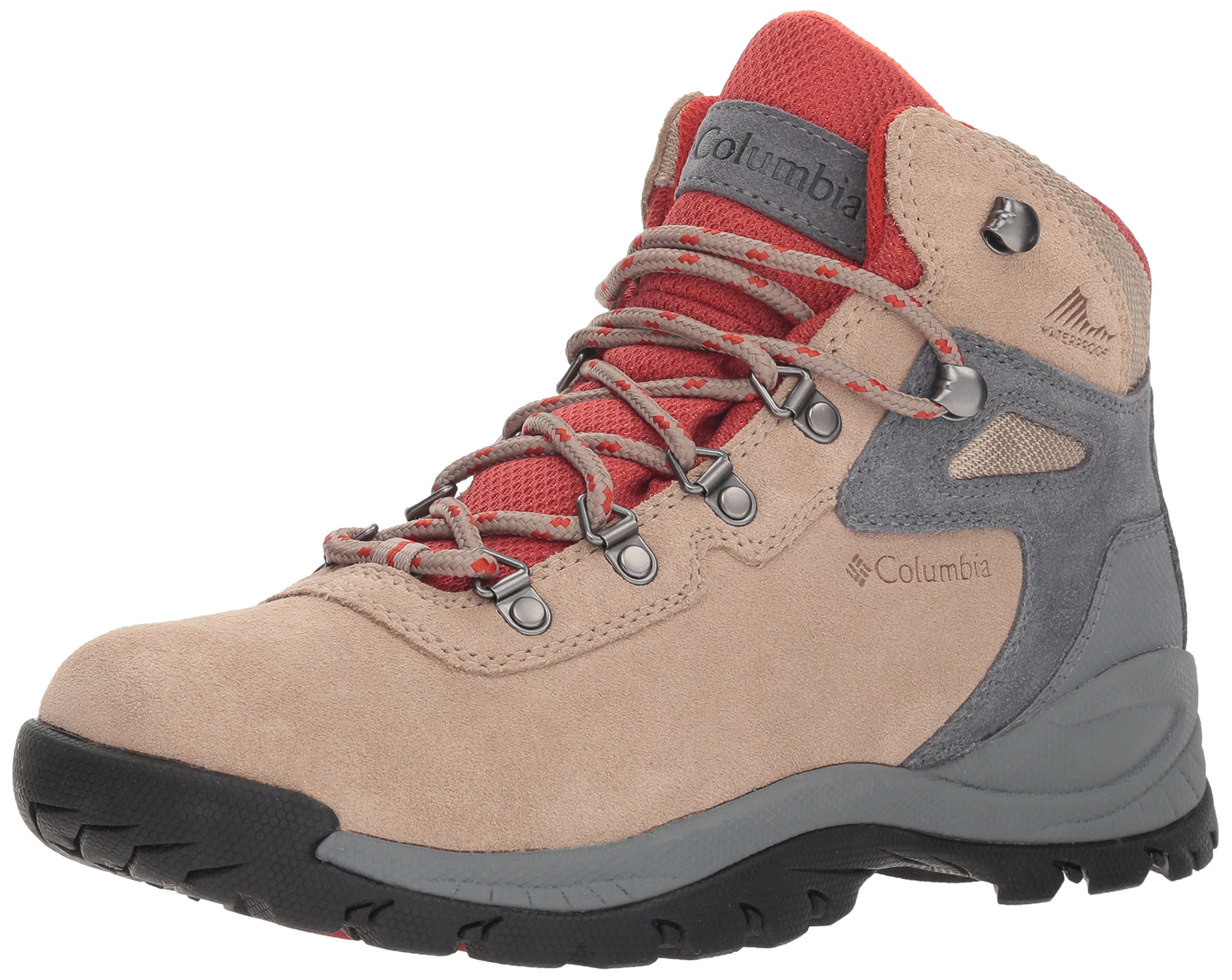 Columbia Women's Newton Ridge Plus Waterproof Amped Hiking Boot, Oxford Tan, Flame, 9 Regular US