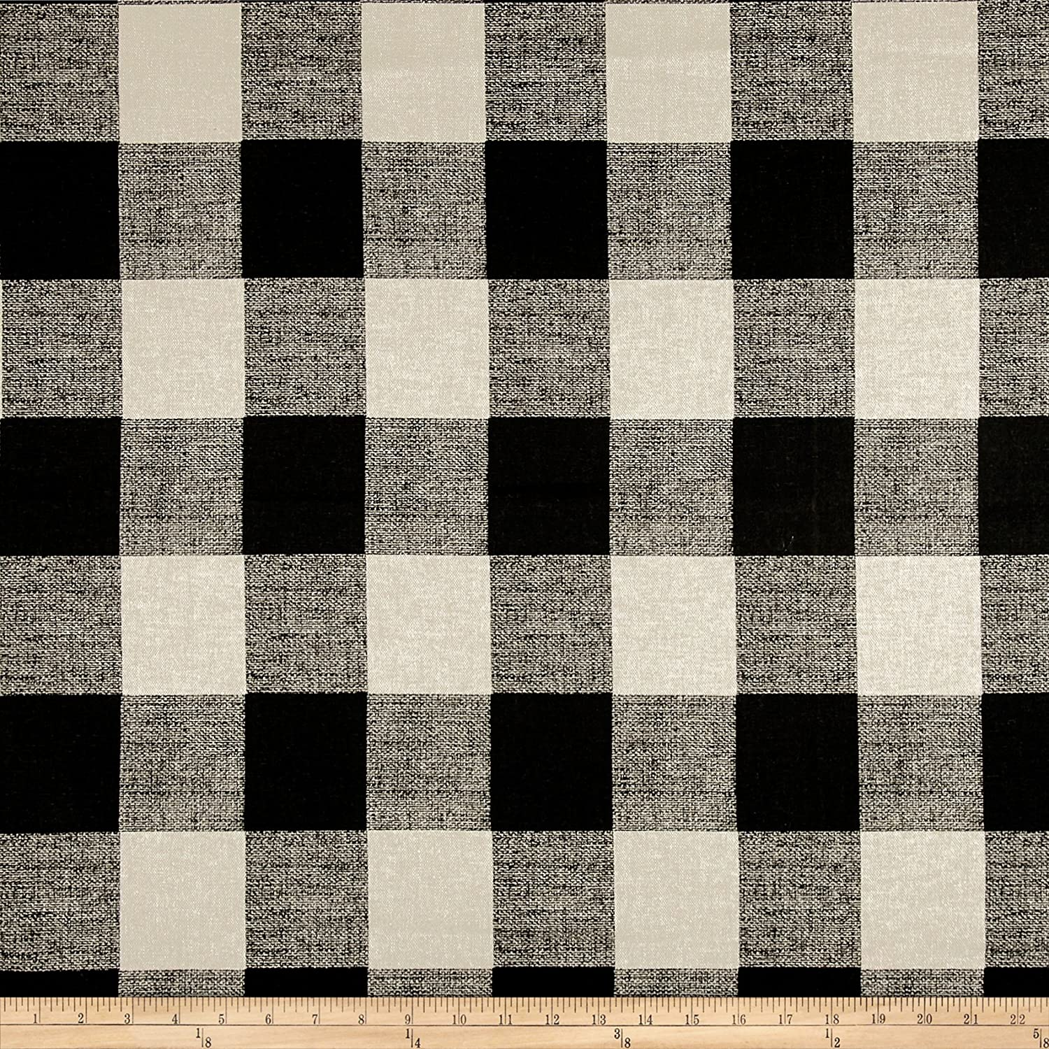 Black and white buffalo check curtains - Amazon Com Premier Prints Anderson Check Black White Fabric By The Yard