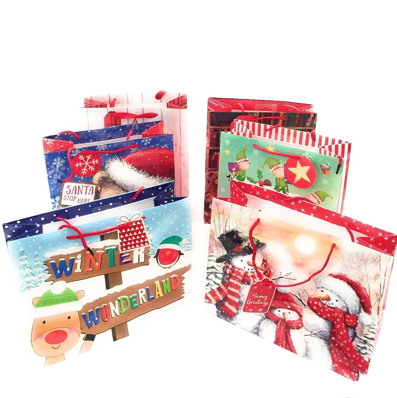 Christmas Gift Bags 6 Christmas Dimensions 34 x 27 x 12cm