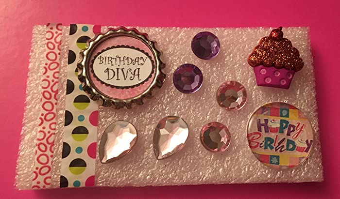 Metal Bottle Cap Birthday Diva Tack Resin Happy Tacks Cupcake Rhinestone Memo Board Bulletin Cork Hostess Gifts